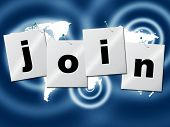 Register Join Represents Sign Up And Membership
