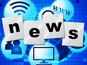 News Media Represents Multimedia Journalism And Headlines