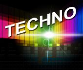 Techno Music Shows Sound Track And Audio