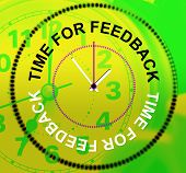 Time For Feedback Indicates Evaluation Satisfaction And Response