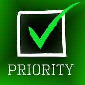 Tick Priority Shows Importance Check And Approved