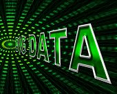 stock photo of byte  - Big Data Meaning Info Bytes And Dataflow - JPG