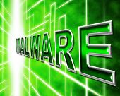 Malware Security Indicates Protected Restricted And Secure