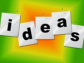 Word Ideas Represents Create Inventions And Creativity