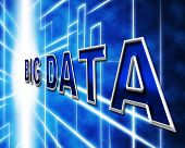 pic of byte  - Big Data Showing Information Byte And Knowledge - JPG
