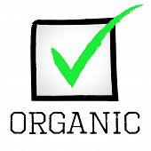 Tick Organic Represents Mark Checkmark And Checked