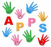 Kids Apps Means Application Software And Computing