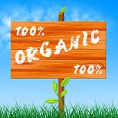 One Hundred Percent Shows Organic Products And Completely