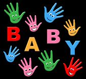 Baby Hands Represents Parenthood Newborn And Parenting
