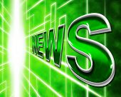 Online News Represents World Wide Web And Article
