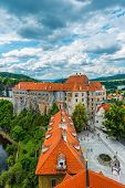View on the  Old Town Cesky Krumlov, Czech Republic