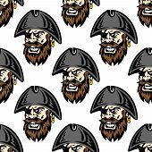Cartoon pirate seamless pattern background