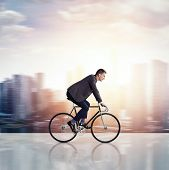Businessman On A Bicycle