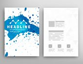 Vector Template Poster. Watercolor Abstract Background. Paint Splash.