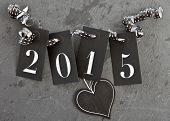 2015 On Slate Background