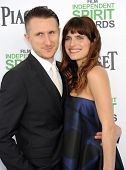 LOS ANGELES - MAR 01:  Lake Bell & Scott Campbell arrives to the Film Independent Spirit Awards 2014