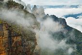 Mist rising in the Blue Mountains