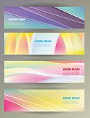 Set of abstract web banners. Vector template.