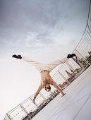 Muscular man at the city