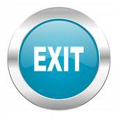 exit internet blue icon