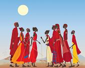 Masai Men And Women