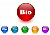 bio internet icons colorful set