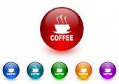 espresso internet icons colorful set