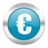 euro internet blue icon