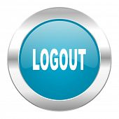 logout internet blue icon