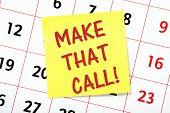 Make That Call!
