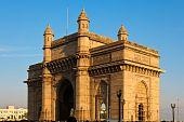 foto of british bombay  - Gateway to India in warm afternoon light Mumbai - JPG