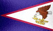 pic of samoa  - Closeup of American Samoa flag on metallic metal texture - JPG