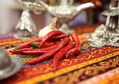 Red Chili Pepper On Turkish Table