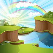 Rivier en Rainbow