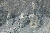 picture of collapse  - Collapsed rock at Baregg nearby Grindelwald in Alps in Switzerland - JPG