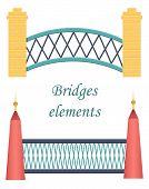 Set of bridge icons