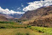 Landscape Of Leh, Ladakh, Jammu And Kashmir, India