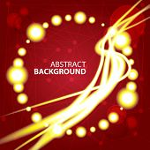 Space Abstract red background with glowing white rays and stars