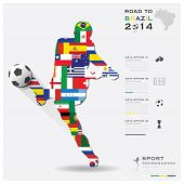 Road To Brazil 2014 Football Tournament Sport Infographic