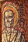 Mosaic Of Saint Peter Apostle On A Column