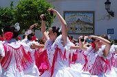 Teenage flamenco dancers.