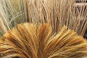 Broom closeup photo background