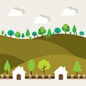 Natural Landscape Background.