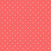 stock photo of pastel  - Seamless vector pattern with white polka dots on pastel pink background for tile decoration wallpaper - JPG
