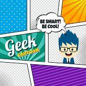 geek cartoon comic