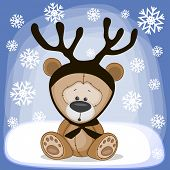 Teddy Bear With Antlers