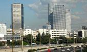 Tel Aviv Azrieli Towers From La Guardia Bridge 2009