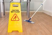 Wet Floor Sign And Mop