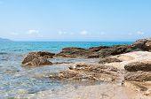 Sea And Volcanic Rocky Shore