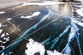 Natural Ice On The Lake